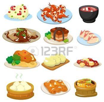 cartoon food: cartoon chinese food icon Illustration.