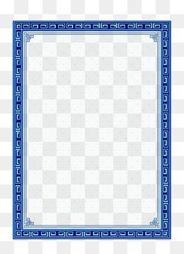 2019 的 Chinese Frame Material, Chinese Frame, Frame, Blue Frame PNG.