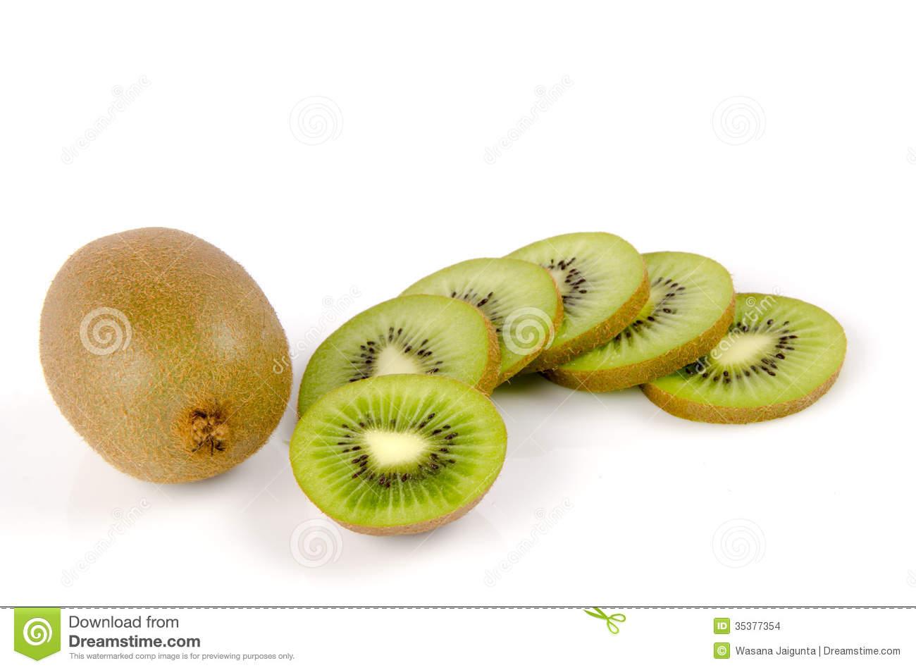 Kiwi Fruit, Chinese Gooseberry (Actinidia Chinensis). Stock Images.