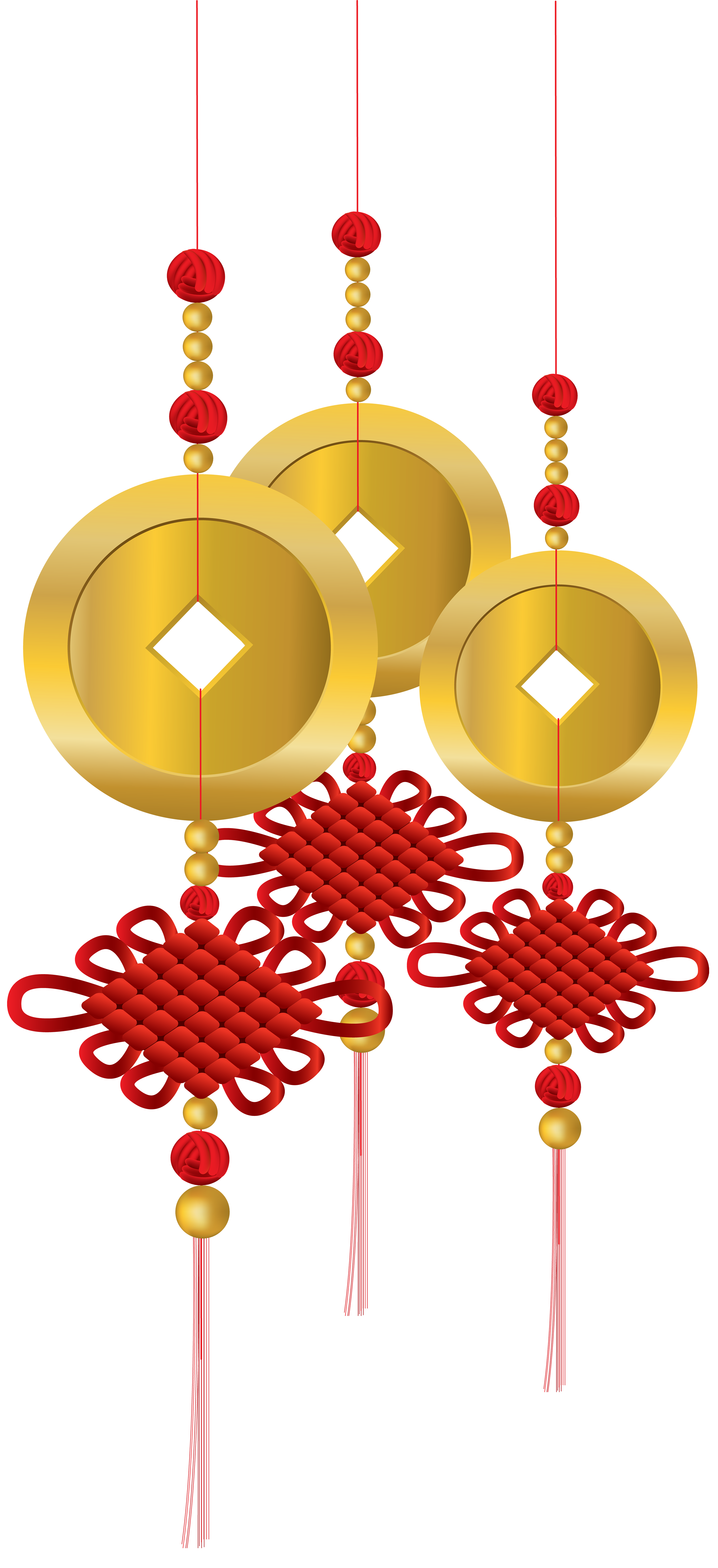 Chinese Knot Decoration PNG Clip Art.