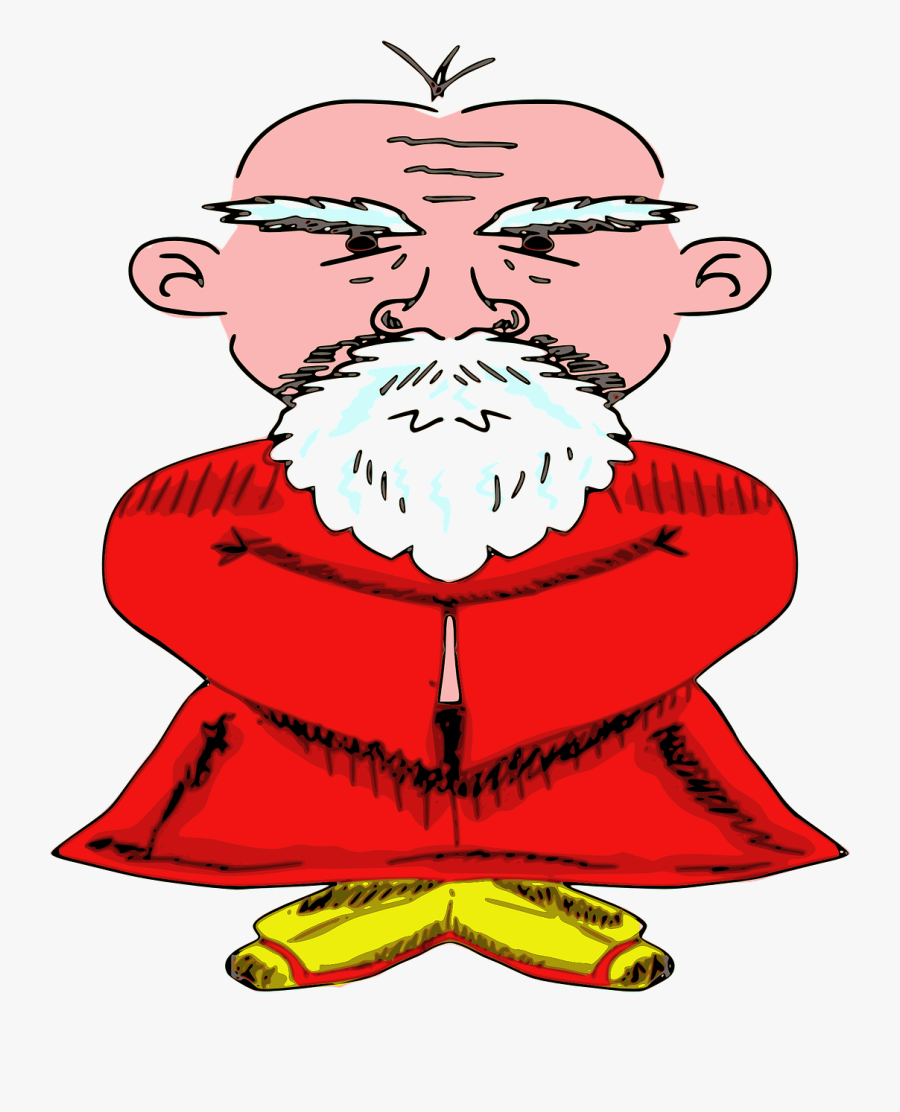 Old Chinese Man Transparent , Free Transparent Clipart.