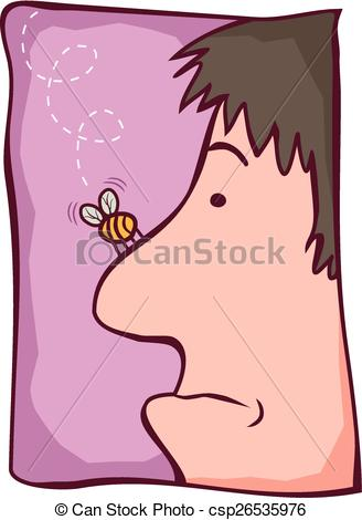 Vectors Illustration of Bumble bee nose.