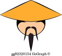 China Hat Clip Art.