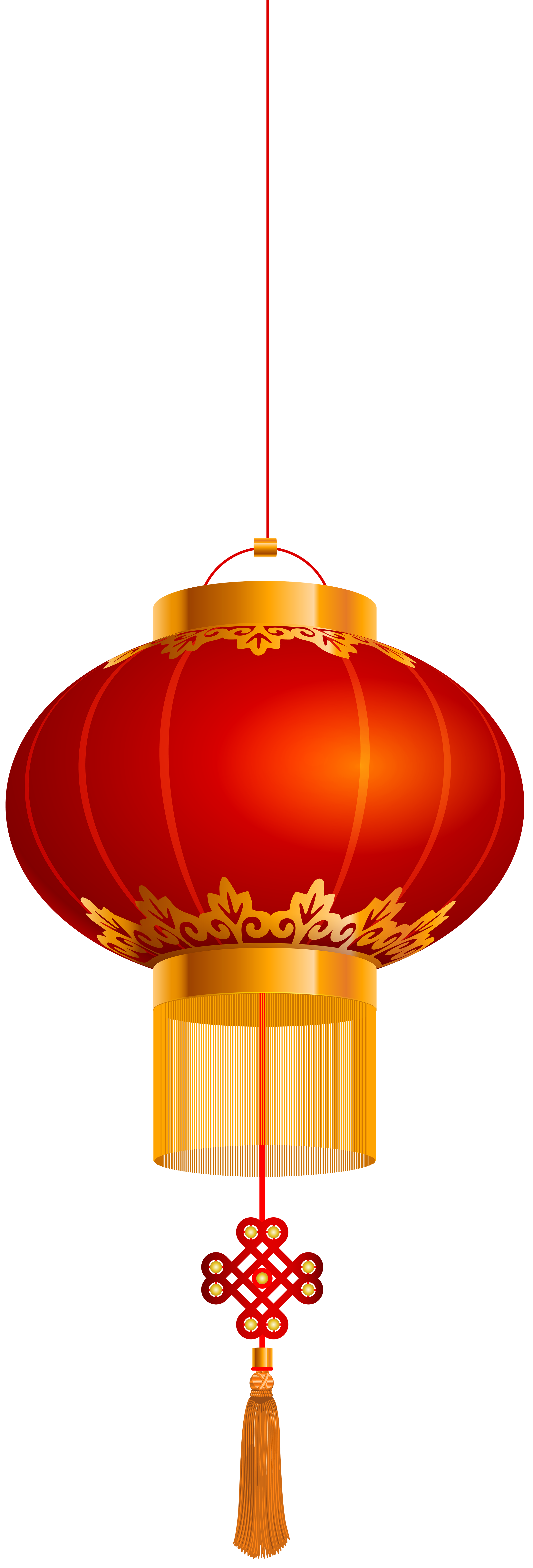 Chinese Lantern Gold Red PNG Clip Art.