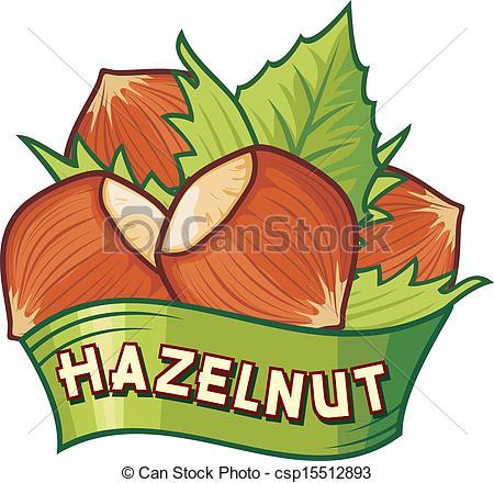 EPS Vectors of hazelnut label (hazelnut symbol, hazelnut sign.