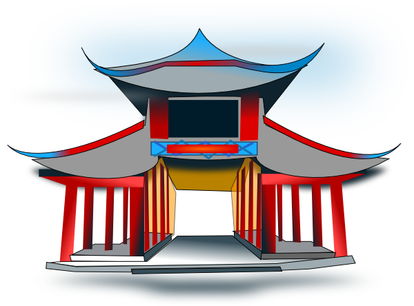 Clipart chinese house.