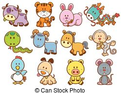 Chinese zodiac animal Vector Clipart Royalty Free. 9,472 Chinese.