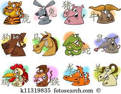 Chinese zodiac animal Clipart EPS Images. 9,158 chinese zodiac.