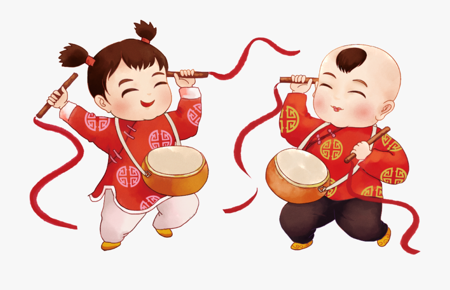 Hand Painted Fuwa Drum Decoration Free Download.