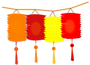 Chinese lantern clipart.