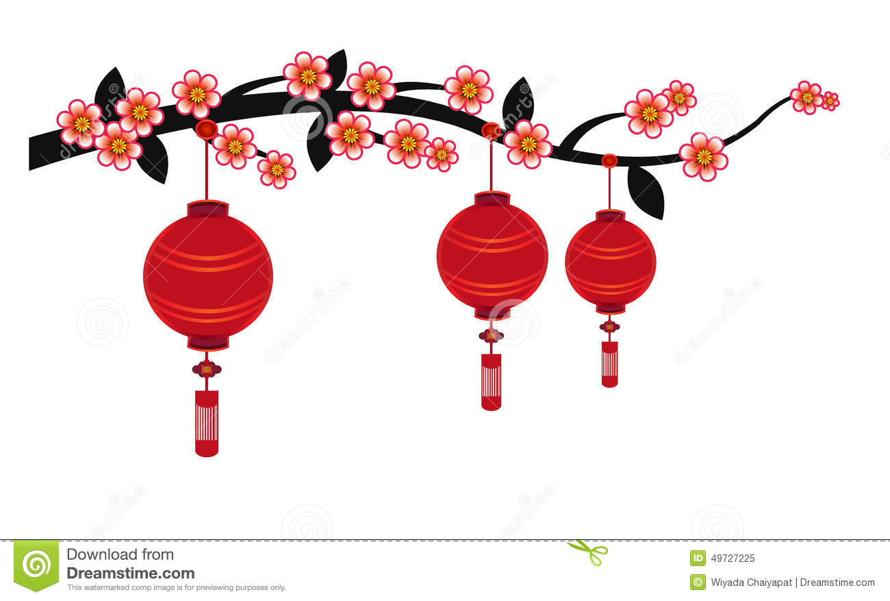 Chinese lanterns clipart no background.
