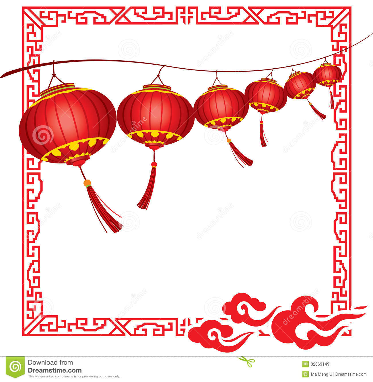 Chinese Lanterns Stock Illustrations.