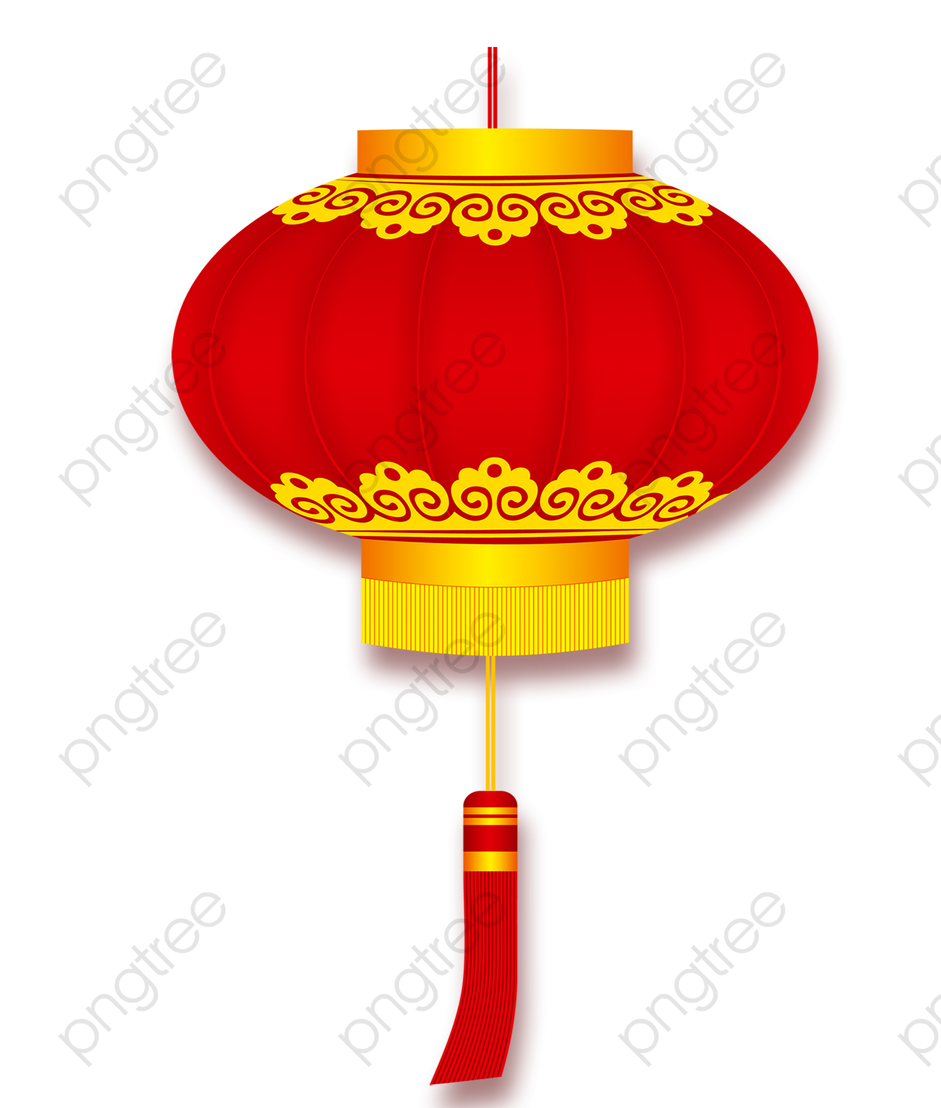 Red Chinese Lanterns, Chinese Clipart, Red, Chinese Style PNG.