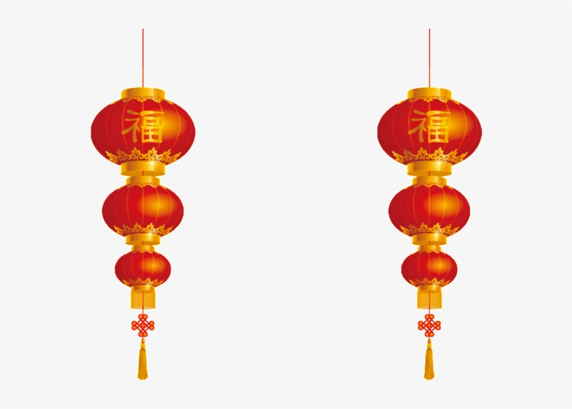 Red Festive Lantern Png.