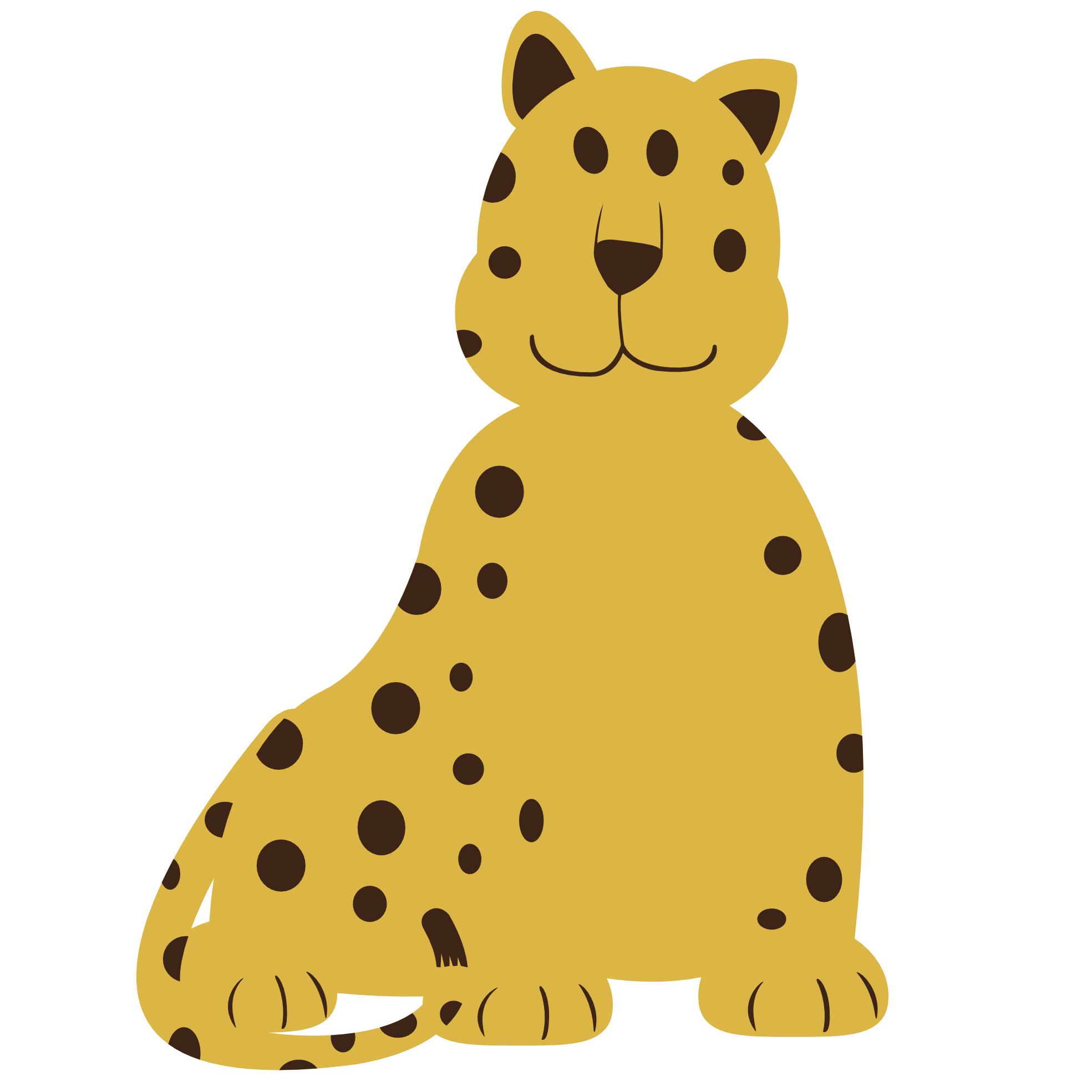 Colorful leopard clipart.