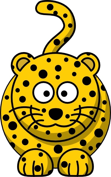 Leopard clip art Free vector in Open office drawing svg ( .svg.