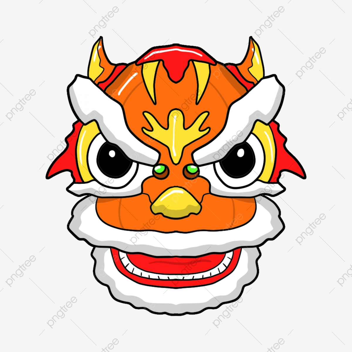 Chinese Lion Dance Elements, Lion Clipart, Dance Clipart, Chinese.
