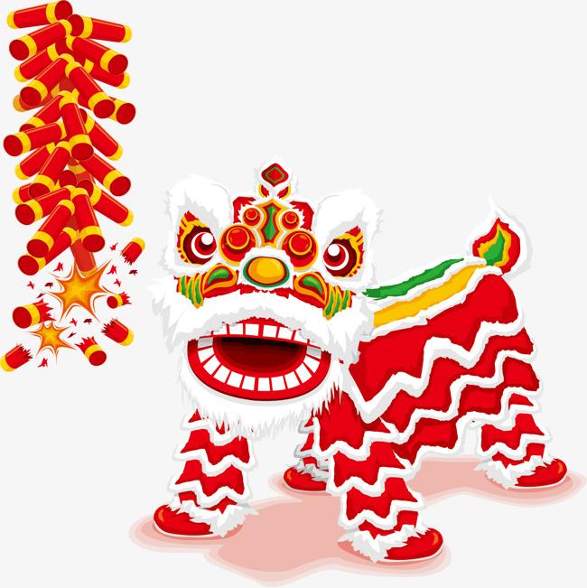 Chinese Lion Dance Elements, Lion Clipar #173535.
