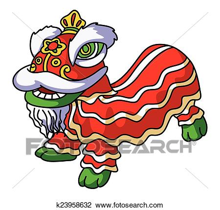 Traditional Chinese Lion Clipart.