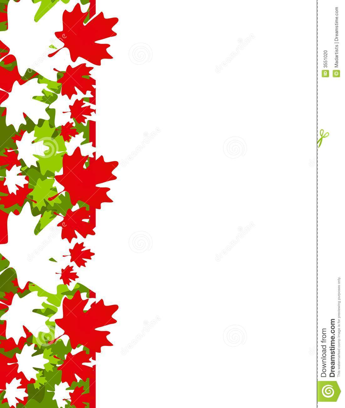 Maple Leaf Border Clipart.