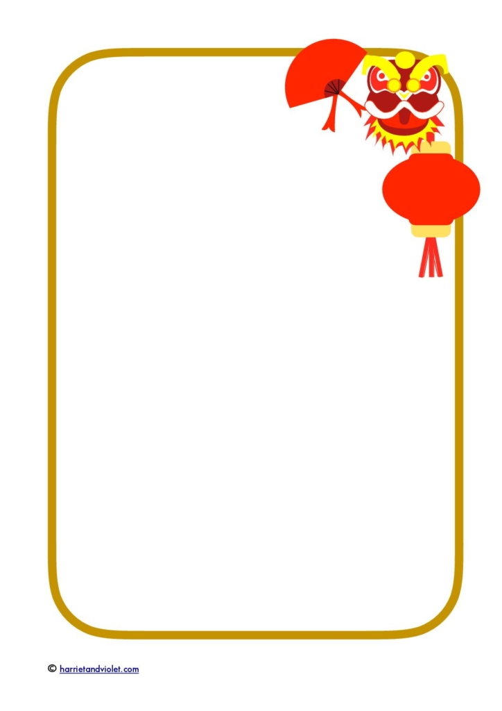 Chinese New Year Frame Clipart.