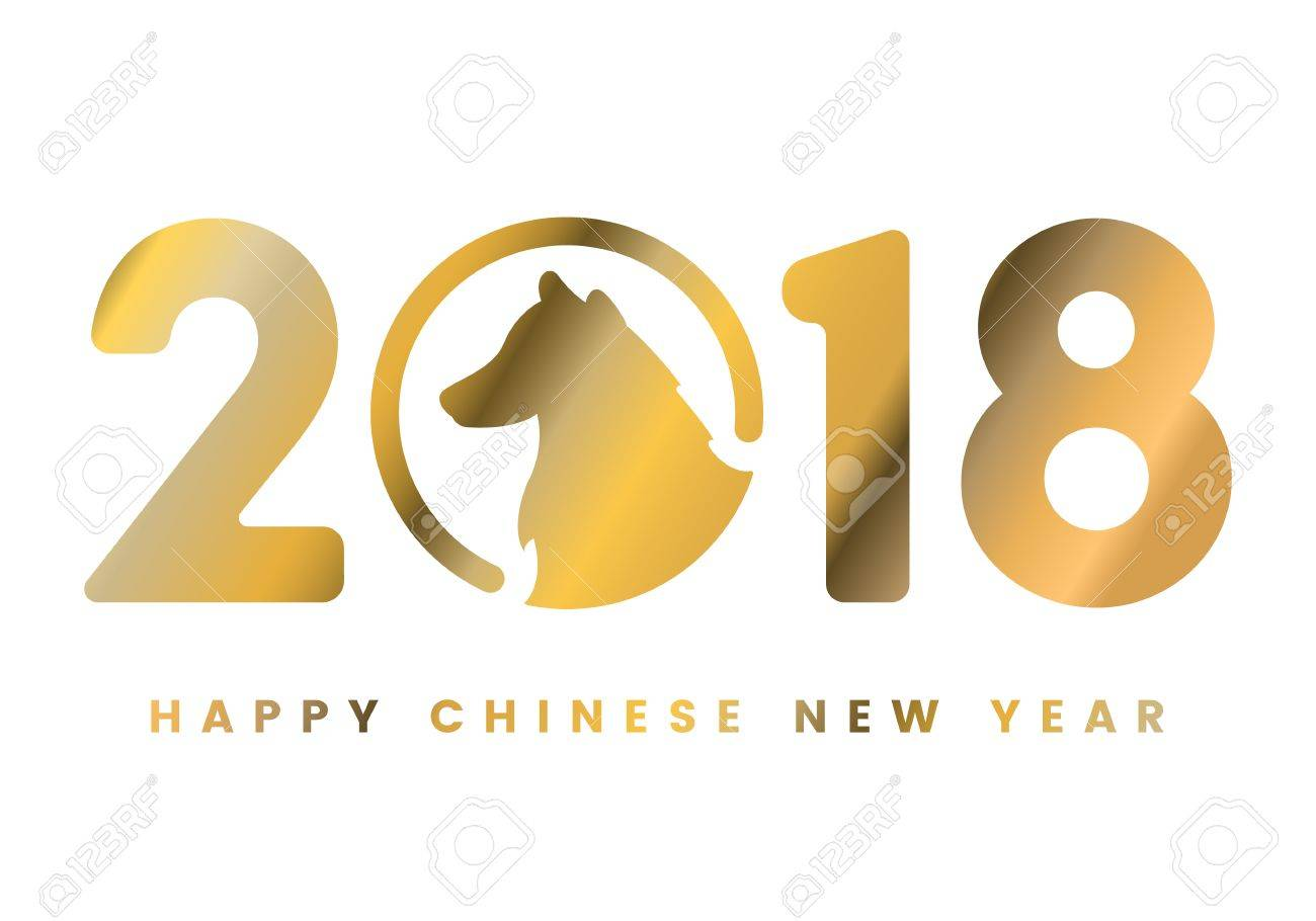 Happy Chinese New Year 2018. Design Card, postcard, congratulations...