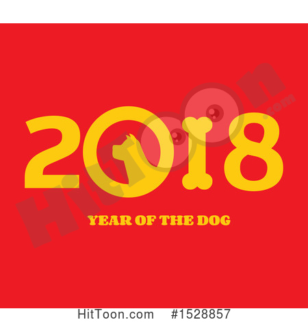 Chinese New Year Clipart #1528857: Yellow Chinese New Year 2018 with.