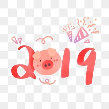 Hand Drawing 2019 Chinese Year Of Pig, Hand Drawing, 2019, Chinese.