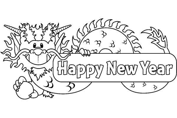 Chinese new year clipart black and white 1 » Clipart Station.