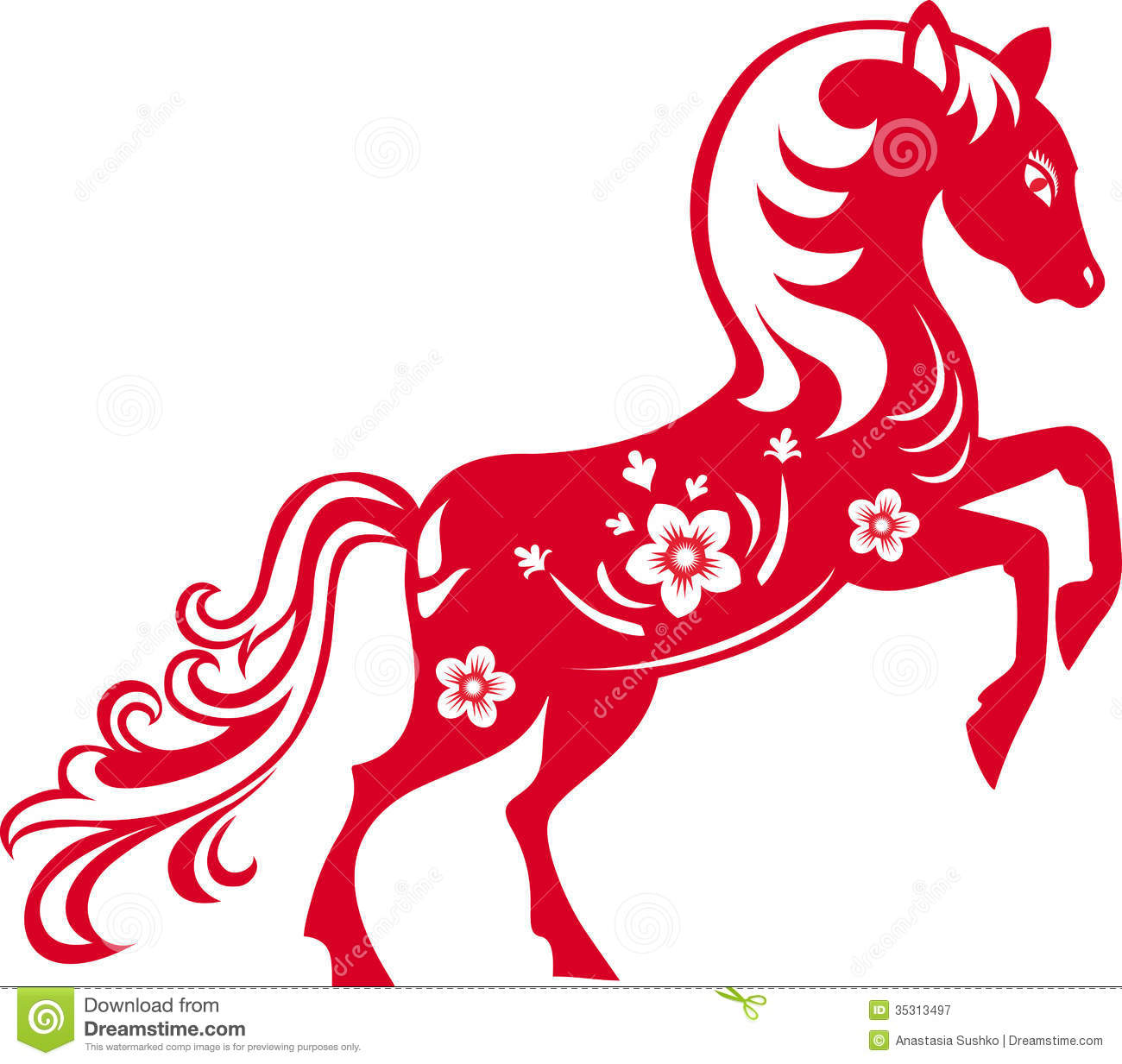 Chinese Horse Clipart.