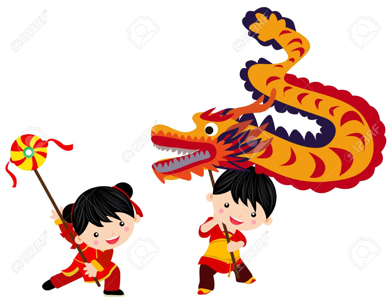 Chinese new year festival/Dragon dance.
