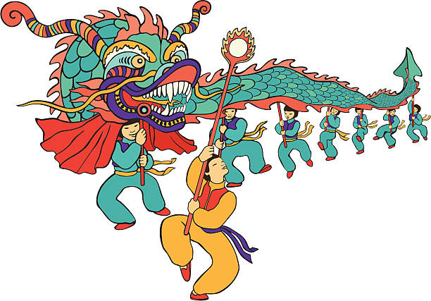 Best Chinese New Year Dragon Illustrations, Royalty.