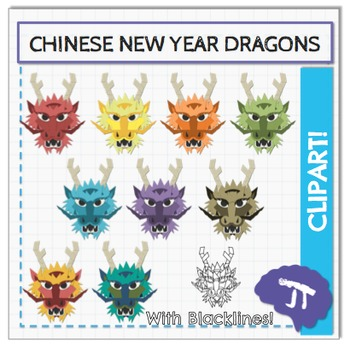 Chinese New Year Dragon Clipart and Art Activity.