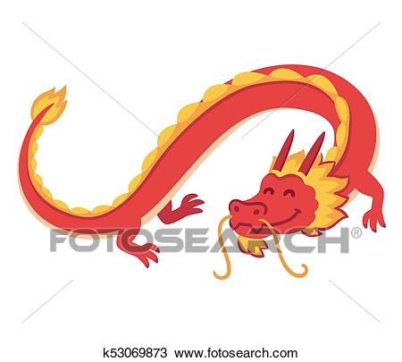 Chinese Red Dragon Clipart.