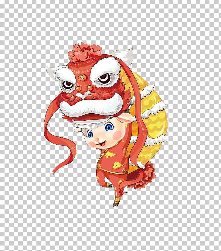 Dragon Dance Chinese New Year Cartoon Lion Dance PNG, Clipart, Art.