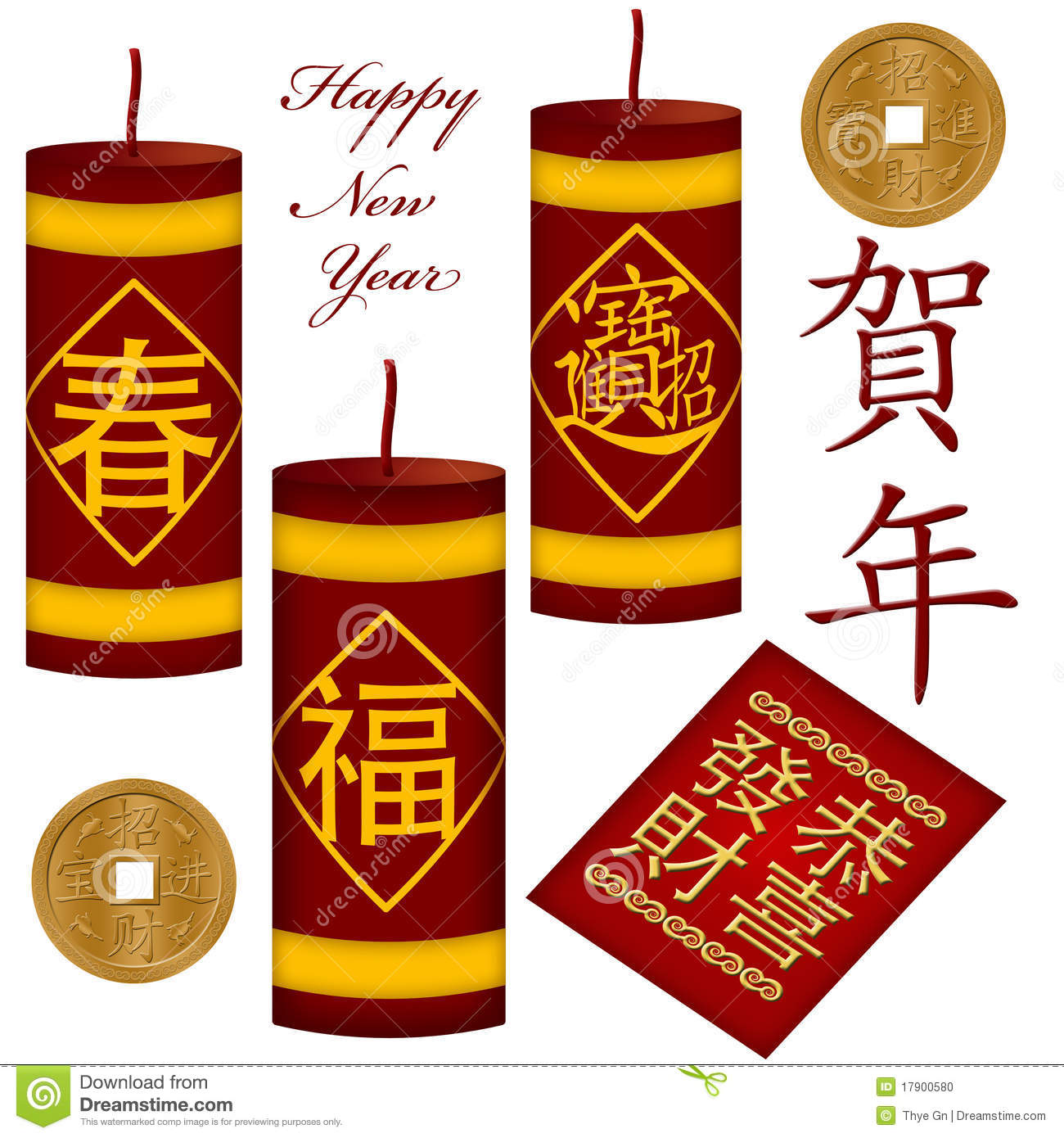 Chinese New Year Firecrackers Royalty Free Stock Image.
