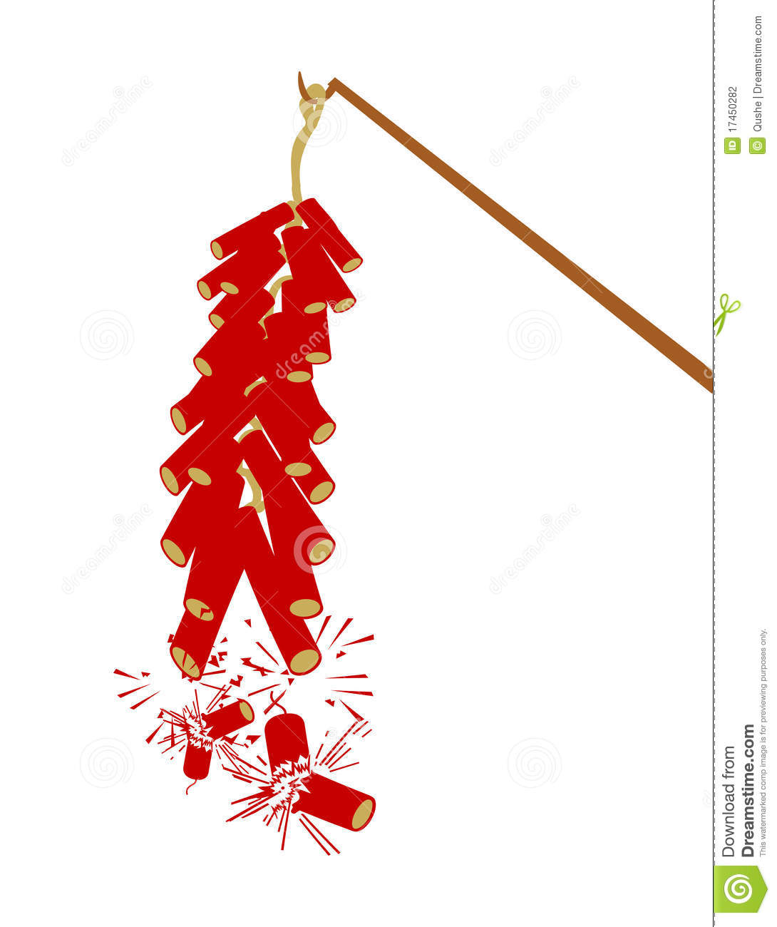 Chinese New Year Firecrackers Clipart.