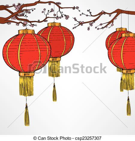 Chinese Red Lanter New Year.