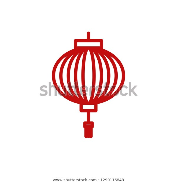 Chinese New Year Lantern Icon Line Stock Vector (Royalty Free.