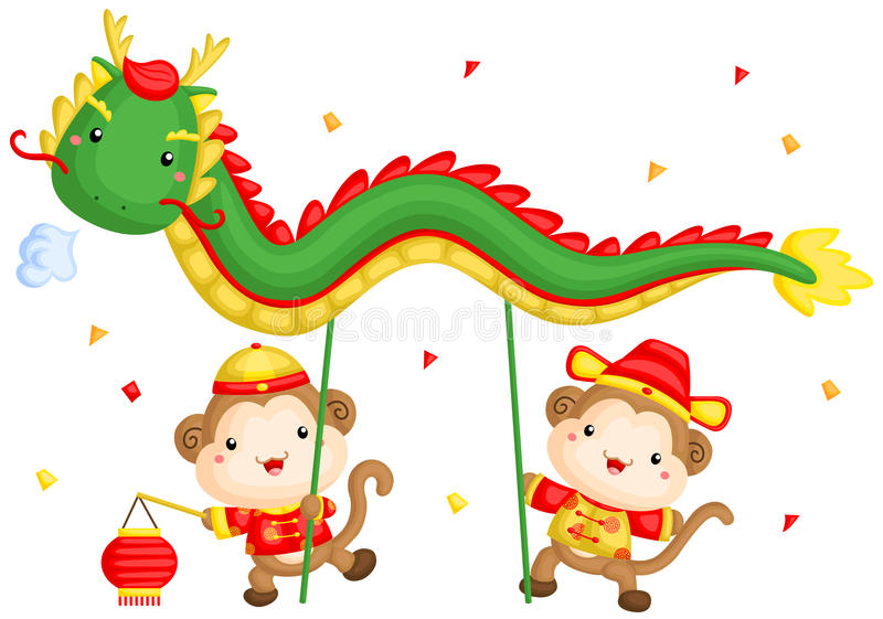 Monkey Chinese New Year Stock Illustrations.