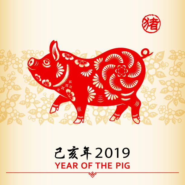 Best Year Of The Pig Illustrations, Royalty.