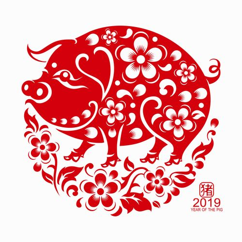 Image result for Pig year icon.