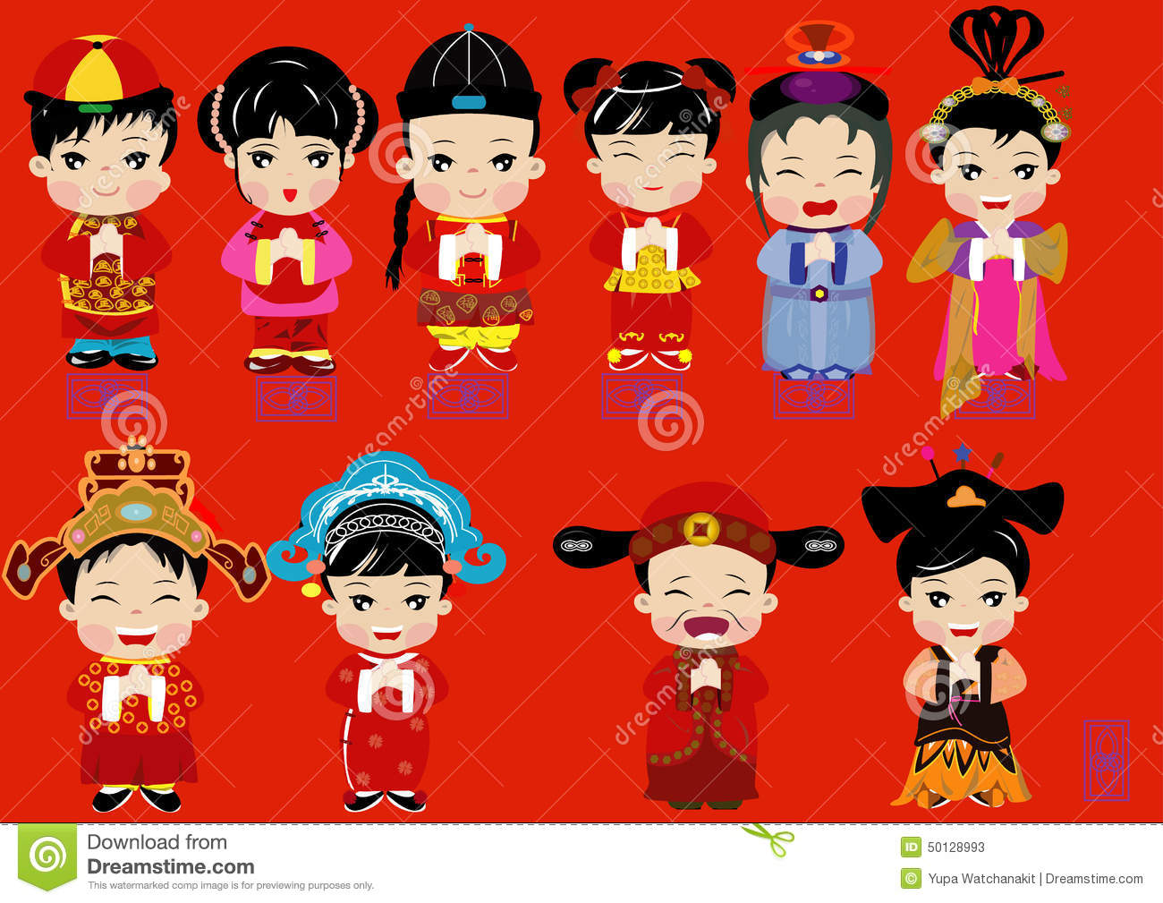 Chinese New Year Stock Illustration.