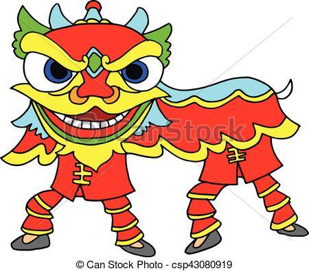 Chinese New Year Celebration Lion Dance.