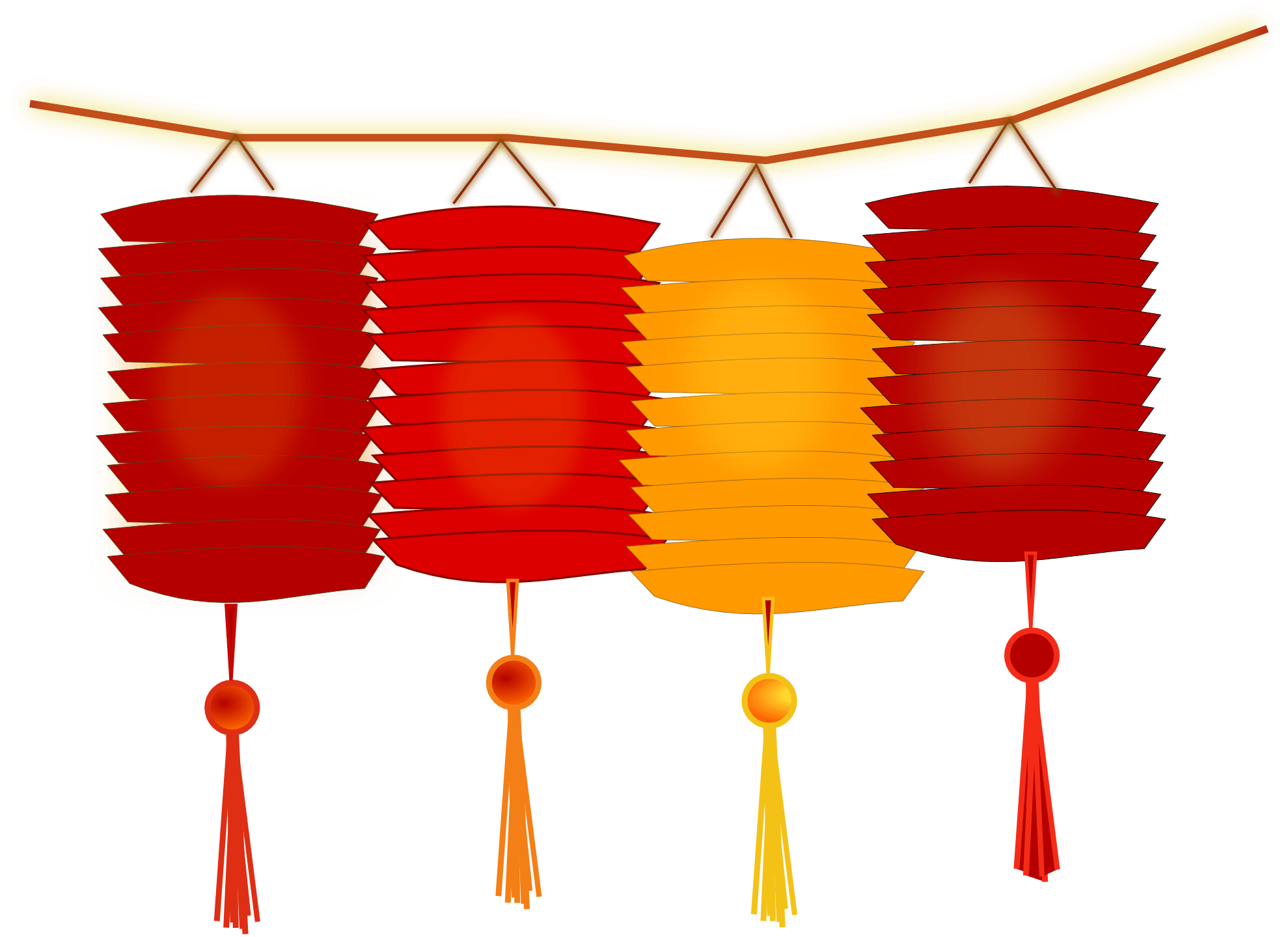 Lanterns For Chinese New Year transparent PNG.
