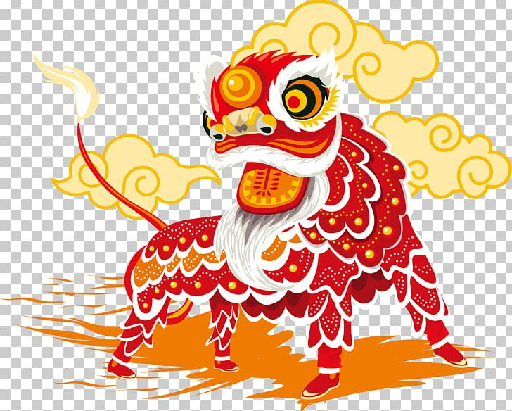 China Lion Dance Chinese New Year PNG, Clipart, Art, Beak, Chinese.