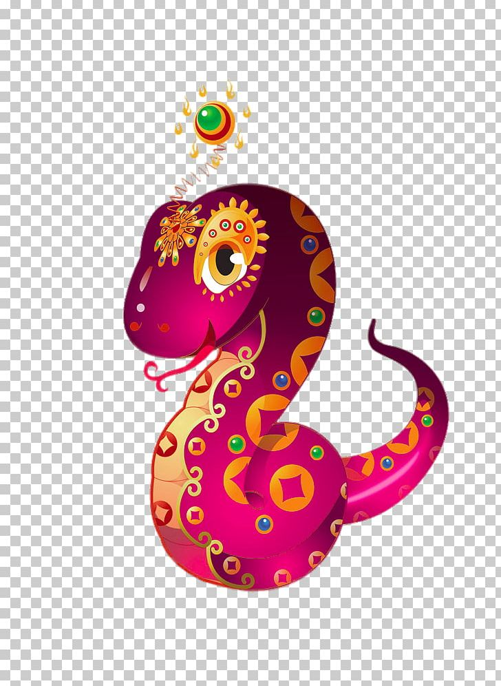 Lucky Snake Cartoon Chinese Zodiac Chinese New Year PNG.