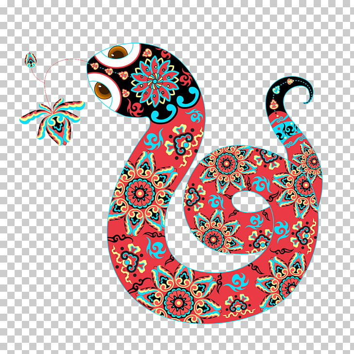 Snake Chinese New Year Cartoon, snake PNG clipart.