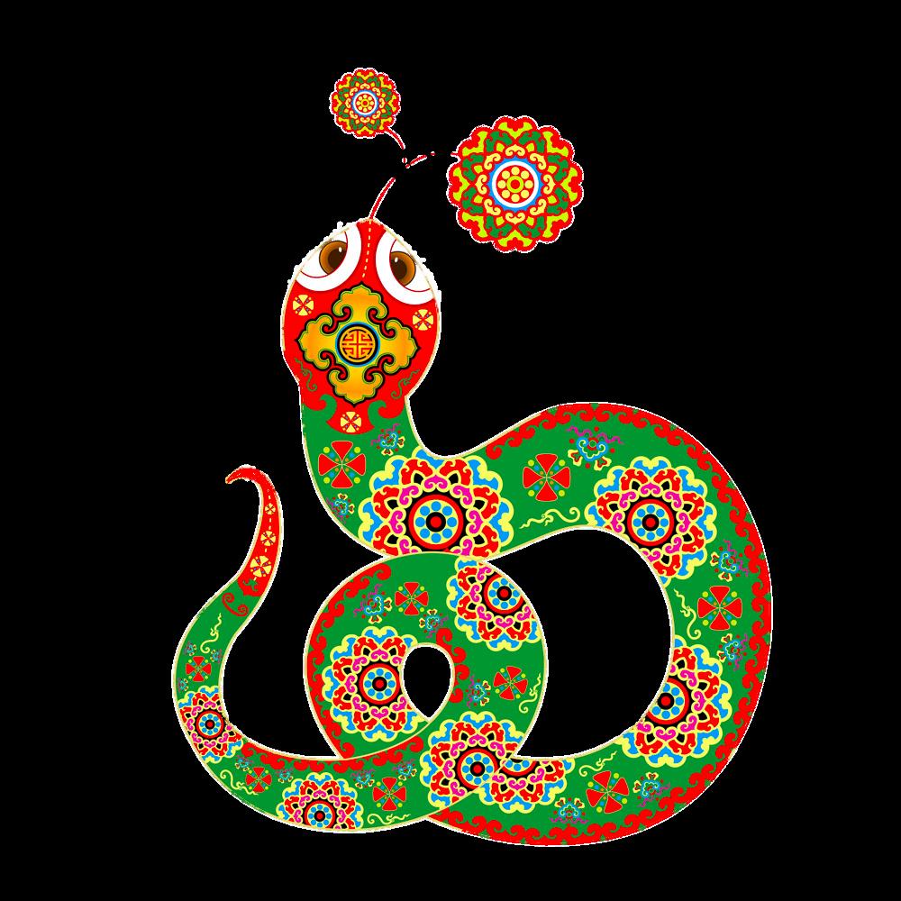 Chinese New Year Snake Chinese zodiac Animation.