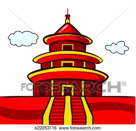 Chinese Temple Pagoda Clip Art.